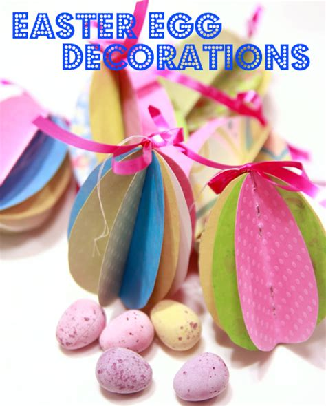 How To Make Easter Decorations Out Of Paper - paper easter egg decorations earl grey and
