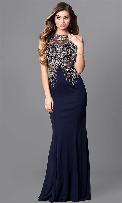 elizabeth  bateau neck long prom dress promgirl