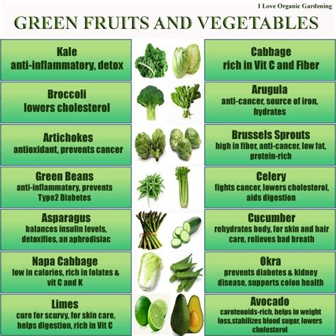 list of fruits and vegetables health benefits and pictures green fruits and vegetables benefits things i like