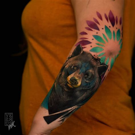 elbow bear tattoo on arm best tattoo ideas gallery