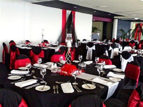 homemade themes by james red and black party decorations wedding decorations red