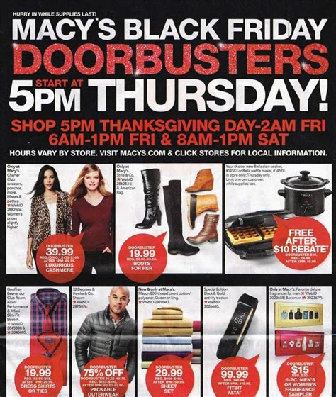 Can You Shop Online With A Macy Gift Card - macy s full 2016 black friday ad is out and ready to view shopportunist