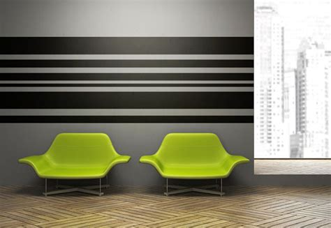 stripe wall stickers wall decal geometric wall decor stripe stripes by wallstargraphics