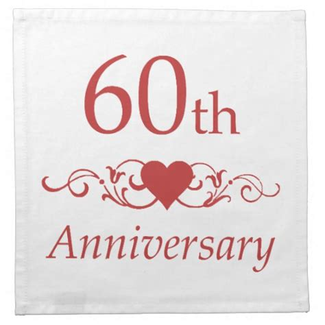 60th Wedding Anniversary by 60th Wedding Anniversary Napkins Zazzle