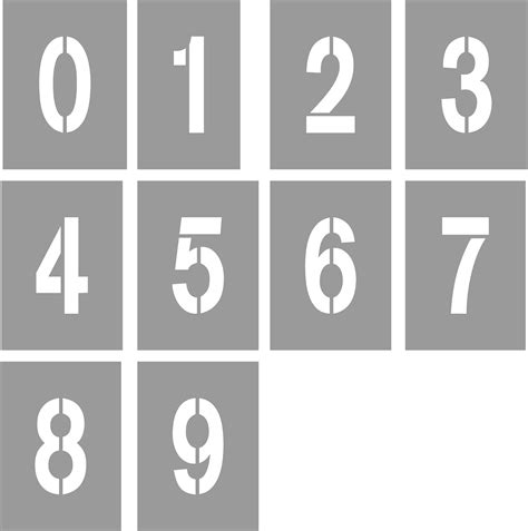 printable number sign stencils acrylic sheets acrylic signs a4 acrylic stencil