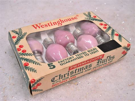 1950s vintage westinghouse ge replacement box pink