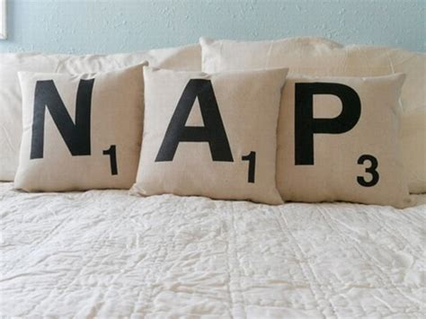 pillows with words scrabble pillows let you spell out words randommization