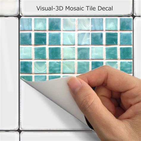 tile decals for bathroom wall tile decals vinyl sticker waterproof tile or wallpaper for kitchen bath mosaic