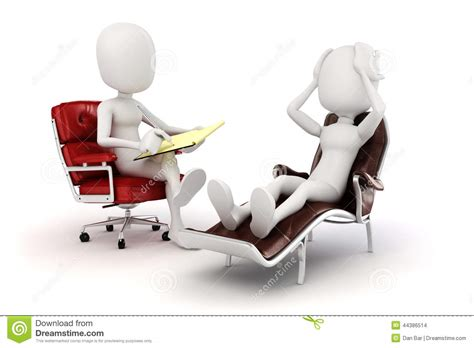 Psychology And Your 3ed 3d psychologist and patient stock illustration image