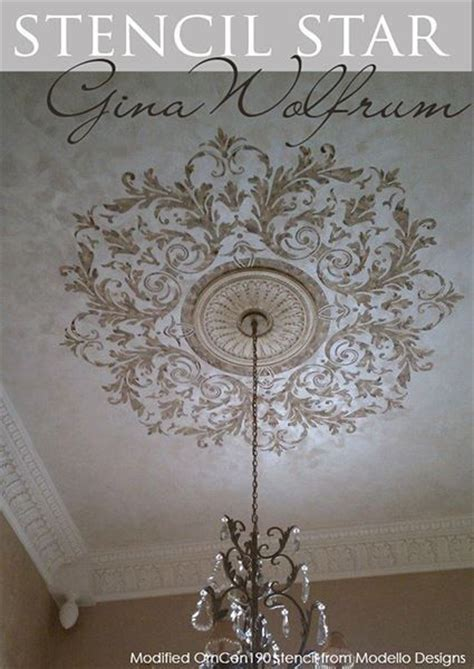 Ceiling Stencils Designs by 1000 Ideas About Ceiling Medallions On