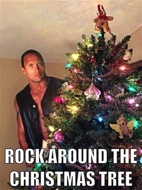 rock around the christmas tree realfunny