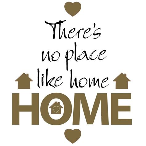 no place like home wall sticker quotes quotable wall stickers
