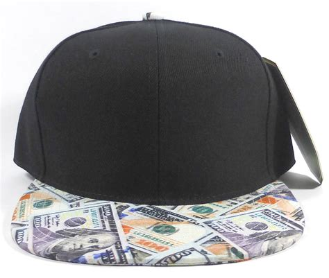 the black dollar wholesale blank dollar bill snapbacks hats black dollar