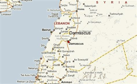 damascus on a map damascus location guide