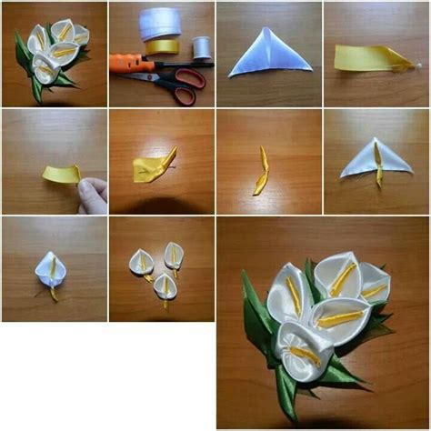 paper ribbon flower tutorial 33 best web tutoriales images on pinterest fabric
