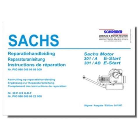 Sachs Motor Type 301 by Schreiber Zweiradshop De Reparaturanleitung Sachs 301 Ab