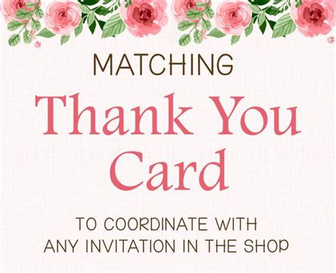 thank you flat card template add on matching printable thank you card flat or