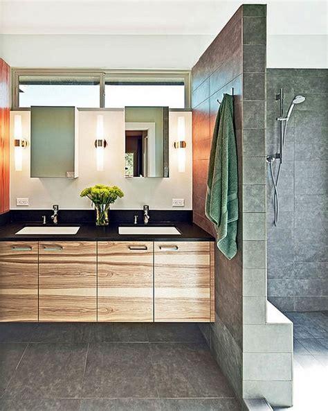 idee bagni design idee bagno moderno con inserti in legno e pietra archzine it