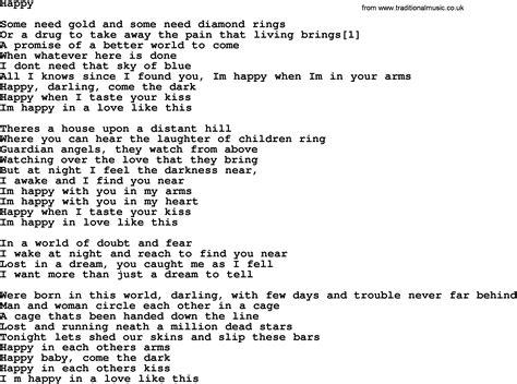 happy lyrics bruce springsteen song happy lyrics
