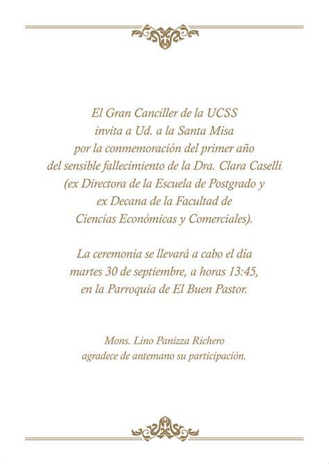 modelo como invitar a misa de los difuntos ejemplo de invitacion de difunto como invitar a misa de