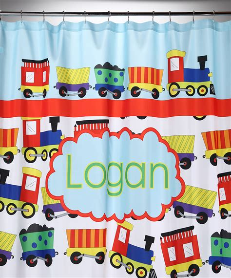train shower curtain trains personalized shower curtain for kids baby n toddler