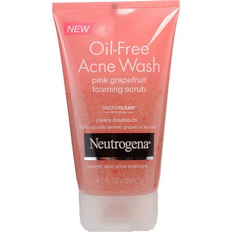 Acne Cleanser Scrub Beta Plus skincare review ingredients neutrogena clean cleanser free acne wash pink