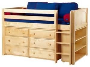 Childrens beds storagebox ii panel storage loft traditional kids beds