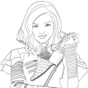 descendants 2 coloring book wickedly cool coloring book for and books mal descendants 2 coloring page free coloring
