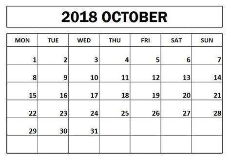 october  monday start calendar calendar monday periodic table