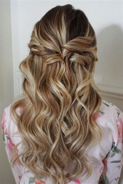 10 glamorous half up half wedding hairstyles from hair and makeup oh best day