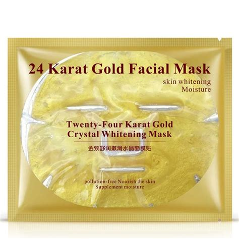 Masker Shiseido Gold Whitening 24k Mask Mask Gold Cair Liqui Murah 24k gold collagen whitening mask anti aging moisturizing gold powder