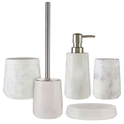 Ebay Bathroom Accessories 5 Marble Bathroom Accessories Set Soap Dish Tumbler Toilet Brush Ebay