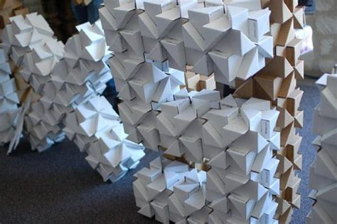 Cardboard Origami - bloxes modular cardboard building system blox blox