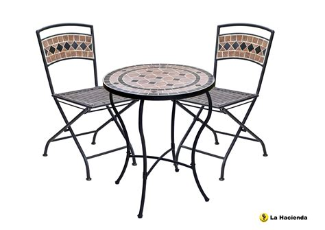 POMPEI BISTRO TABLE / CHAIR SET. 2 CHAIRS. PATIO, GARDEN