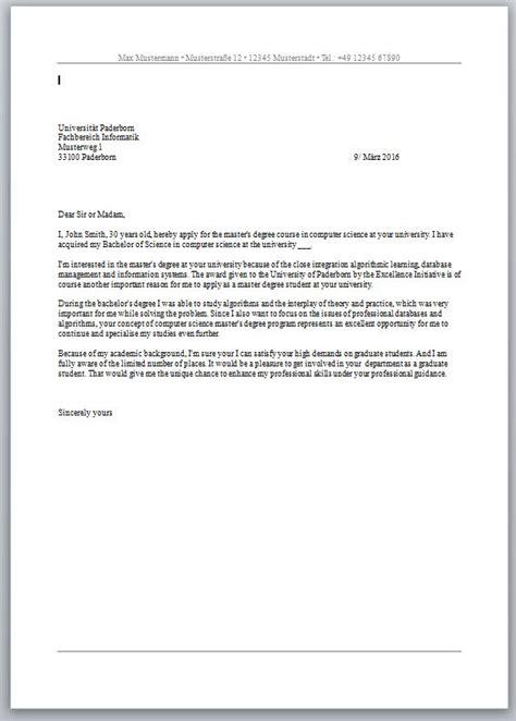 Bewerbungsschreiben Stipendium Englisch Motivationsschreiben F 252 R Auslandssemester Der Mustermann