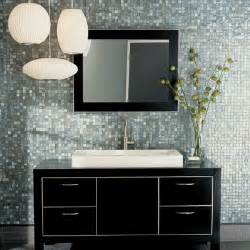 Glass Mosaic Tile Backsplash Bathroom - contemporary backsplash tiles contemporary bathroom walker zanger