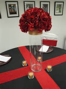 Cheap Table Linens Rentals - marine colors red white gold and black devoted weddings and events