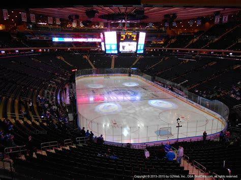 msg section 1 madison square garden section 203 new york rangers