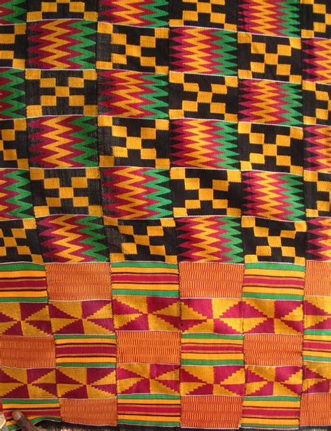 gold african pattern kente cloth this cloth has the red green and gold zig