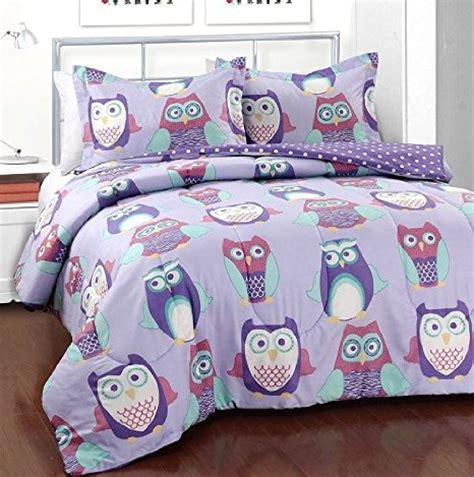 owl comforters hoot owl polka dot full comforter and shams set 3 piece