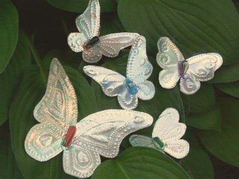 punched tin butterflies
