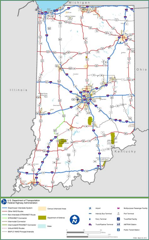 road map of indiana usa indiana interstate map