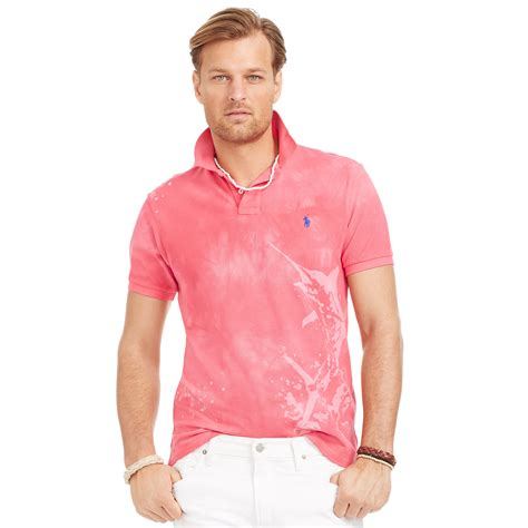 Blouse Qorry Polo Pink lyst ralph marlin mesh polo shirt in pink for
