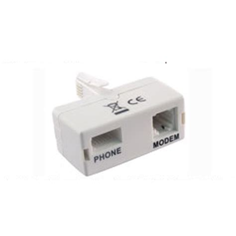 Splitter Modem Adsl adsl broadband modem bt rj11 phone splitter filter uk ebay