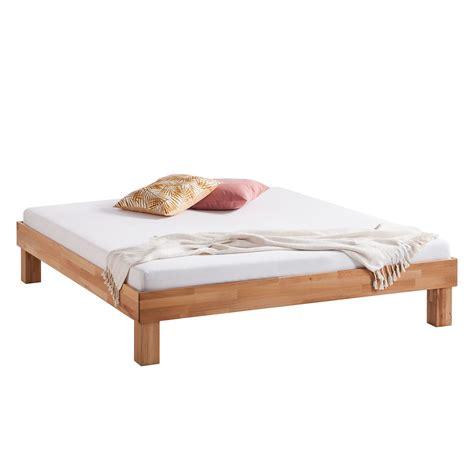 doppelbett ohne kopfteil massivholzbett areswood 180 x 200cm ohne kopfteil