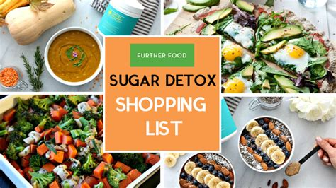 Further Foods Sugar Detox by 7 Day Sugar Free Detox Shopping List Further Food