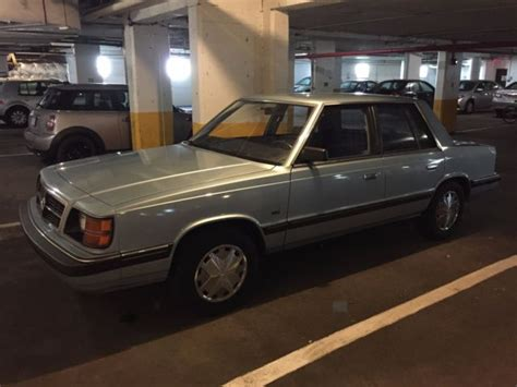 1986 dodge aries k car for sale photos technical