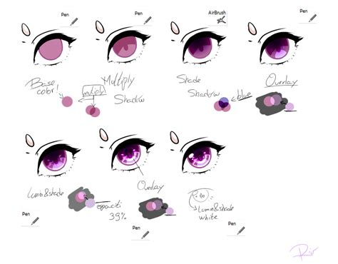 how to color eyes paint tool sai step by step coloring eyetutorial by jennacaminschi on deviantart