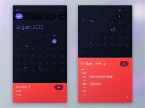 calendar design in android 260 best images about mobile ui calendar on pinterest
