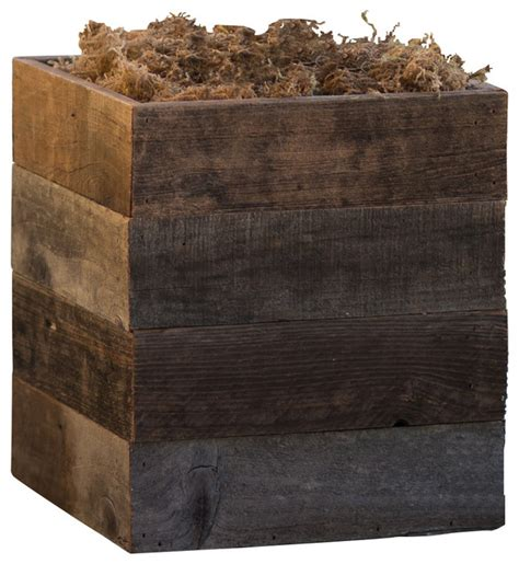 Rustic Planters For Sale by Reclaimed Wooden Patio Planter Rustic Outdoor Pots And